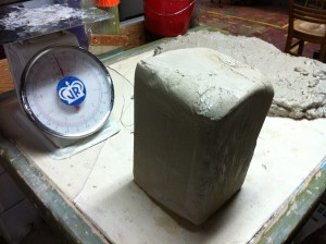 picture of 25# brick of clay