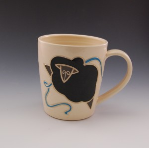 picture of Turquoise Knitting Mug