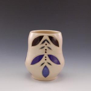 Curvy Cup: brown and purple
