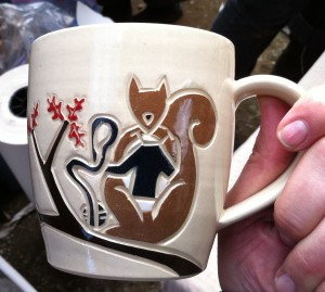 Rhinebeck Mug 2010 Squirrel side