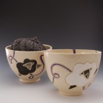 Purple Yarn Bowls