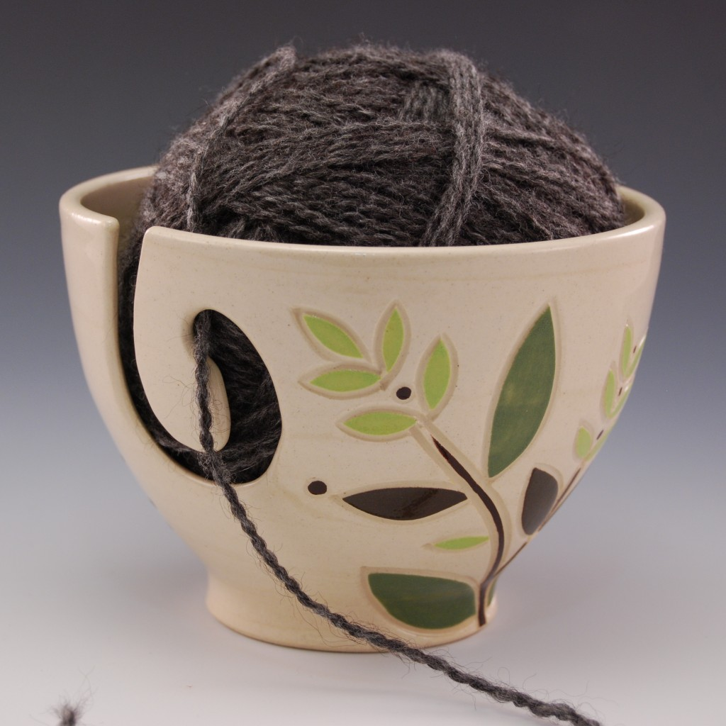 Green Branch Yarn Bowl