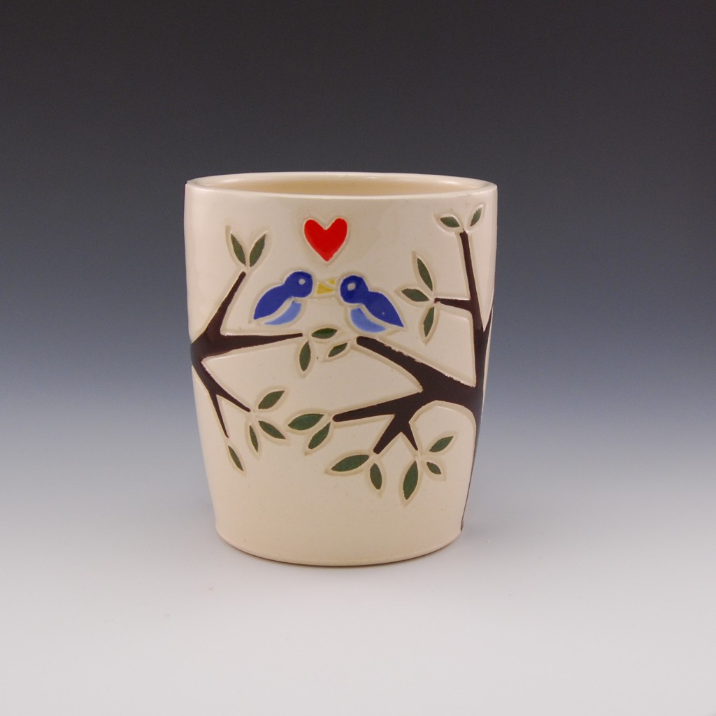 Blue Bird Love Mug