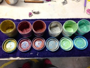 underglazes in the studio