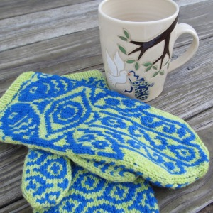 Hamsa inspired mitten and mug