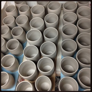 picture of cups in progress